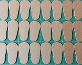 "Chipboard 2mm Shoe Sole to fit 18"" doll shoes"