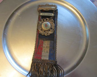 Early 1900's Carpenters and Joiners Labor Union Member Badge/Ribbon Pinckneyville ILL