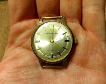 Vintage Marcel and Cie Antimagnetic 10715 Swiss Made Wrist Watch - Repair or Parts