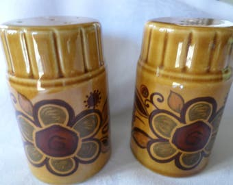 Vintage Condiment Set ceramic Made in England Salt &  Pepper shakers 1970s