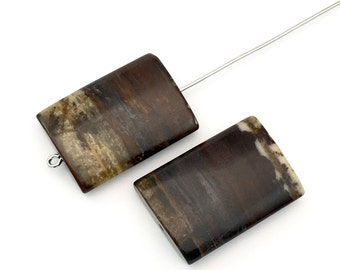 2 Picasso jasper pillow stone beads,18mm x 25mm #PP046