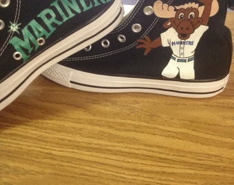Seattle Mariners hand painted shoes