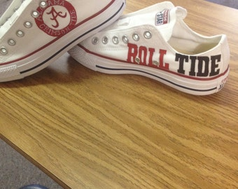 Alabama Crimson Tide hand painted shoes