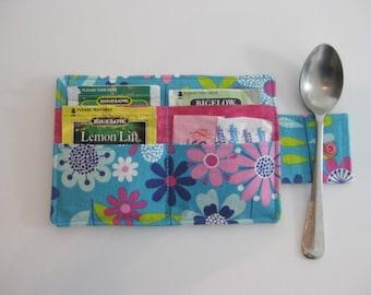 Tea Wallet, Floral Tea Carrier, Tea Holder