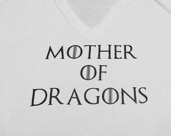 Mother of Dragons V neck