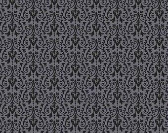 Riley Blake Designs - Ghouls Damask Black - C5305-BLACK