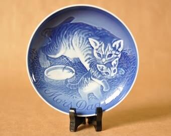 Bing & Grondahl - Mors Day 1971 - Mother's day - cat and kitten - Copenhagen - Danish porcelain - Denmark