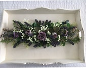 Wedding artificial floral swag/garland lavender,roses,gypsophila,greenery,perfect for chalkbaord sign,top table centrepiece,ceremony table
