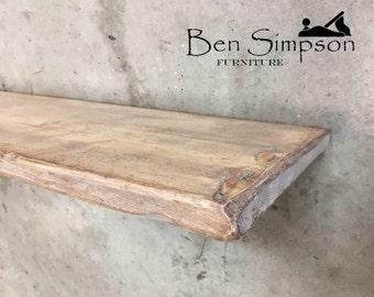Shabby Chic Floating Shelves Shelf Mantel Thin Wooden Rustic Handmade