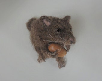 Now sold ..little felted mouse..whoops you caught me !!!