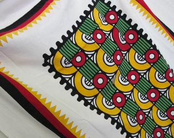 Mid Century Modern Tablecloth Hand Screened Tablecloth Woven Tablecloth Mexican