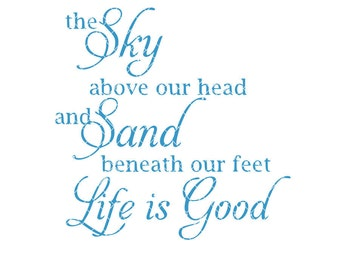 The sky above our head and sand beneath our feet Commercial Use svg dxf ai and Eps files for Cricut & Silhouette machines VV006-D
