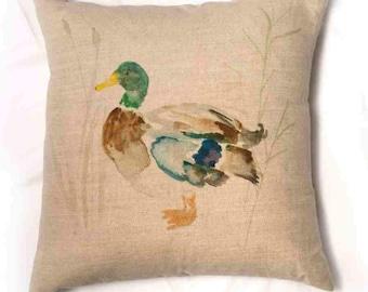 Mallard Duck Cushion