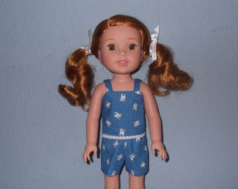 Wellie Wisher doll shorts and tank top