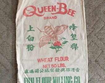Flour sacks, Queen Bee, Vintage