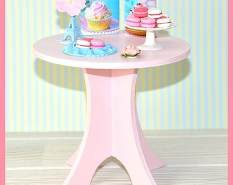Wooden Round TABLE for BJD dolls Barbie Fashion Royalty Blythe Pullip Monster High dolls diorama dollhouse furniture 1:6 Custom