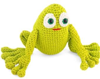 Crochet Amigurumi Pattern for Toy Frog - PDF Crochet Frog Pattern