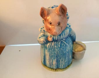 Beswick England F Warne and Co Beatrix Potter's  Aunt Pettitoes Figurine 1970