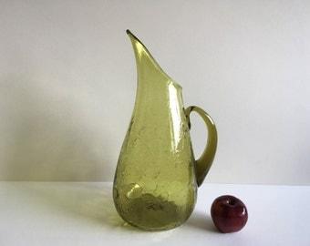 Vintage Blenko Glass Pitcher.