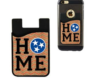 Cell Phone Caddy/Credit Card Holder, TN Tristar Cell Phone Case, Tennessee Tri Star, Student ID Holder, Custom Credit Card Holder, Tn Flag