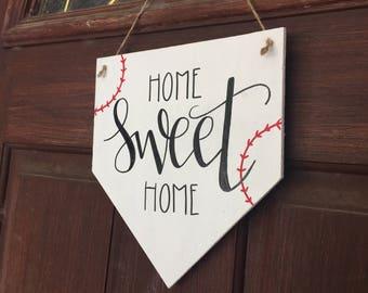 Baseball Sign • Home Sweet Home • Coach • Sports • Team • Gift • Home Plate • Teacher • School • Little League • T-Ball