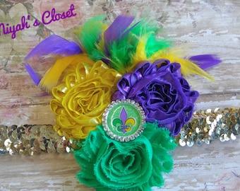 Mardi Gras Fleur de lis Headband