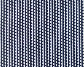 Basics Ruby Scallop Navy Yardage SKU# 55037-37 by Bonnie and Camille for Moda Fabrics
