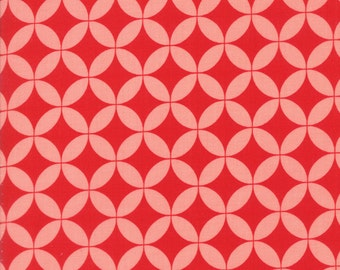 Basics Hello Darling Pink on Red Yardage SKU# 55111-40 by Bonnie and Camille for Moda Fabrics