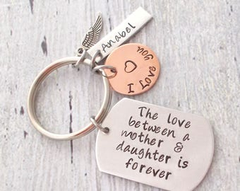 Personalized Mother Daughter Keychain, The Love Between A Mother And Daughter Is Forever
