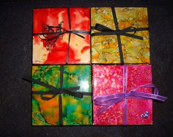 Hand Painted Coasters (Set of 4)
