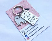 Samoyed gift, Hand Stamped, Key Ring,  Home is where my Samoyed lives,  dog lover gift, gift for him, gift for her,