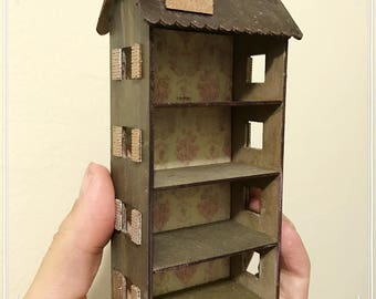 1/12 dollshouse for dollshouse furniture can also be used as a children's wardrobe hand made wood country style