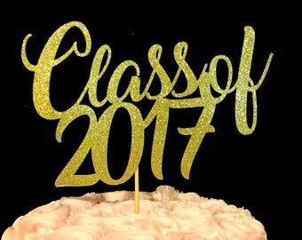 Graduation Cake Topper, Congrats Cake Topper, Congrats, Class or 2017, Graduation, Graduation Decor, Class of 2017 Cake Topper