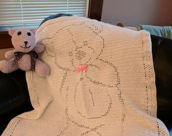 Cuddly Teddy Bear Baby Blanket