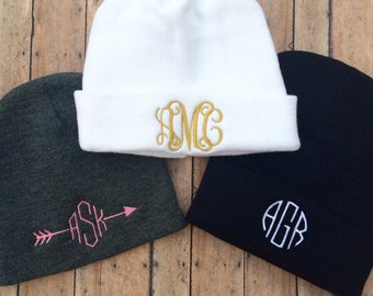 Monogram Beanie, Personalized Beanie, beanie, monogram, monogrammed beanie, monogrammed hat, hat, womens hat, womens beanie, personalized