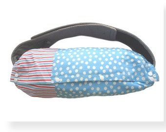 BABY CARRIER BAG--For Ergo Baby,Tula,Mei Tai,Beco,Boba,Manduca,Storage of Baby Carrier,Sack Bag,Case,Red Blue Stripes,White Polka Dots