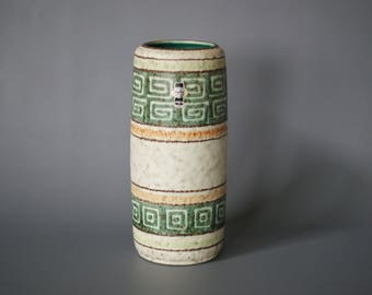 WEST GERMAN POTTERY Vase by Jasba Keramik, German 1960s Vase, Jasba 163 24, Made in Germany, German Mid Century Retro Vase, Mint Glaze