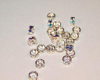Swarovski™ Elements 5mm Crystal AB Rondelles