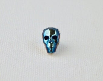13mm Swarovski™ Skull Bead Metallic Blue