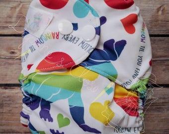 Rainbow Baby NB Diaper Cover