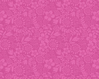A81.3 Blender Hot Pink Lewis & Irene 'DISCOUNTED Clearance Price' Our Friends in the Garden Patchwork Quilting Fabric