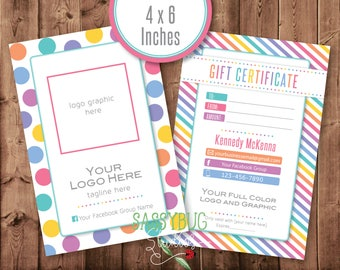 "Gift Certificate Personalized with Your Information | 4"" x 6"" 