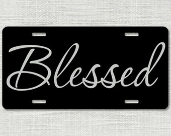 Blessed Car Tag - Front License Plate - Christian Religious 9165
