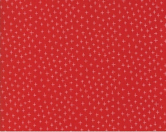 Eat Drink Be Ugly - Twinkle Red by Sandy Gervais for Moda, 1/2 yard, 17925 11