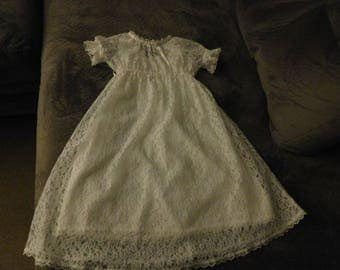 1029 White Lace Christening gown from 1870's Pattern