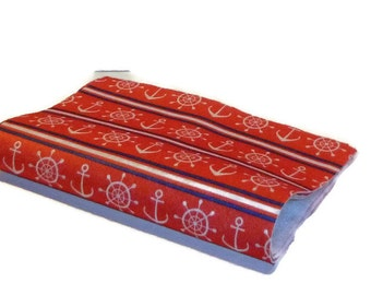 Red and blue felt nautical design pattern