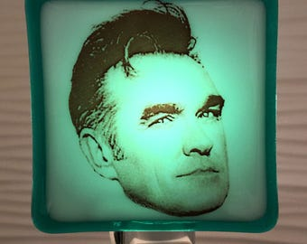 Morrissey The Smiths Night Light Fused Glass