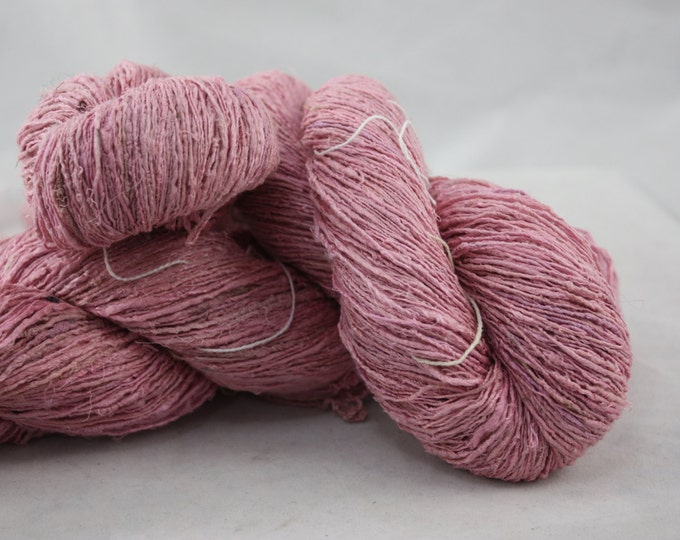 NEW***Handspun Recycled Mulberry Silk - Strawberry Sorbet