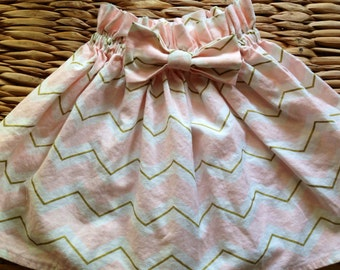 Pink and Gold Bow Skirt