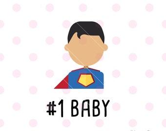 Super hero svg, Number 1 baby SVG DXF Vector. Cricut Explore. Cricut Cutting Machine & More.  encouragement love thankful Svg Quote SVG Art